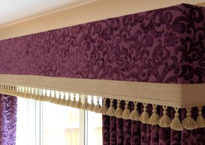 Upholstered pelmet handmade in Wymondham Norwich