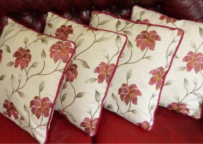 Bespoke cushions with piping handmade in Wymondham Norwich