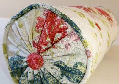 Bespoke bolster roll cushion handmade in Wymondham Norwich